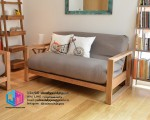 Kursi sofa jati natural