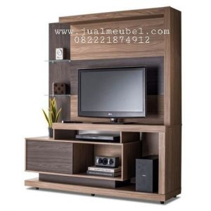 Jual Backdrop TV Minimalis Kayu Jati