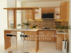 Kitchen Set Jati Minimalis Modern