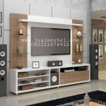 Backdrop Rak TV Minimalis Model Modern 2018
