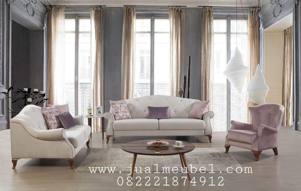 set furniture kursi sofa ruang tamu model mewah elegant