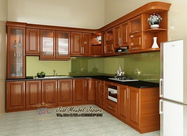 kitchen set jati model minimalis klasik