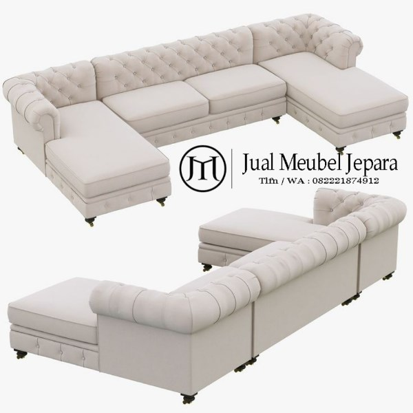 Model Kursi Sofa Tamu Chester Sudut